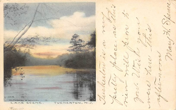 Lake Scene Tuckerton, New Jersey Postcard