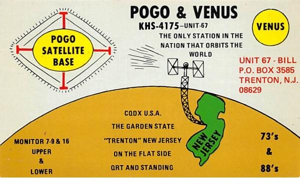 Pogo Satellite Base Trenton, New Jersey Postcard