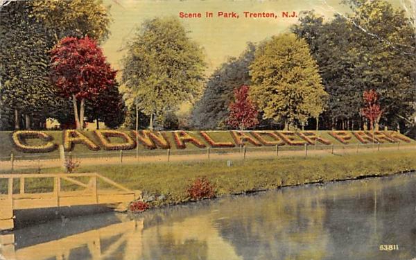Scene in Park Trenton, New Jersey Postcard