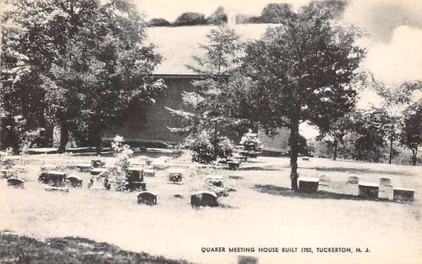 Quaker Meetings House  Tuckerton, New Jersey Postcard