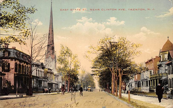 East State St. Trenton, New Jersey Postcard