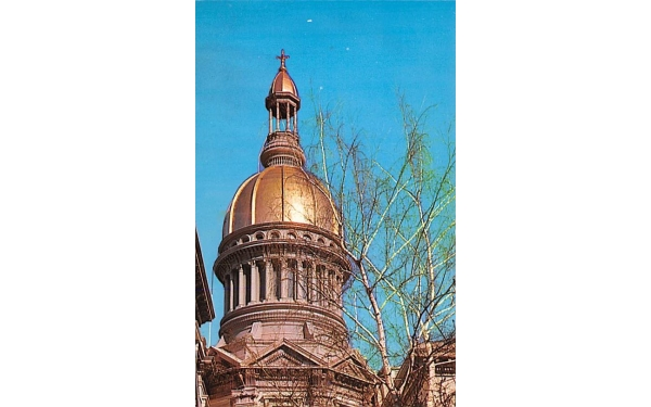 The State Capitol Gold Dome Trenton, New Jersey Postcard