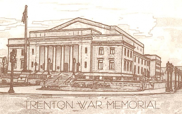 Trenton War Memorial, Reproduction New Jersey Postcard