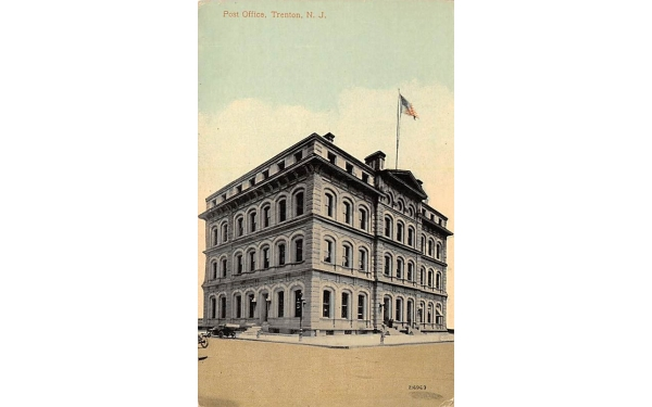 Post Office Trenton, New Jersey Postcard