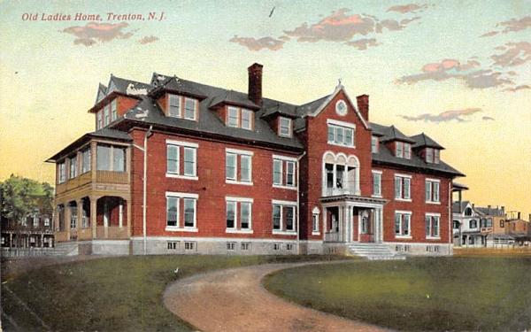 Old Ladies Home Trenton, New Jersey Postcard