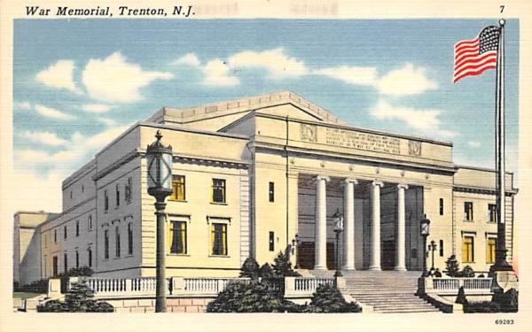War Memorial Trenton, New Jersey Postcard