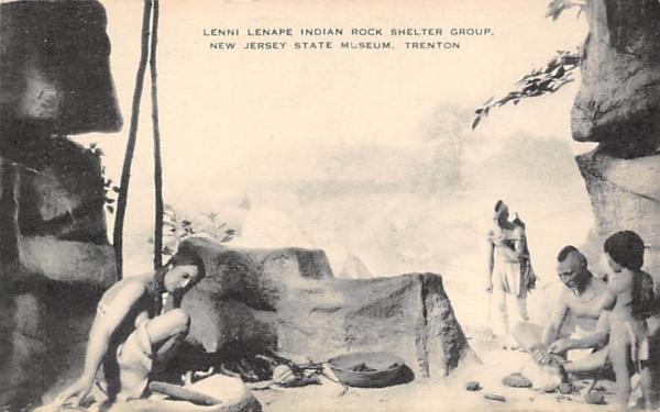 Lenni Lenape Indian Rock Shelter Group Trenton, New Jersey Postcard