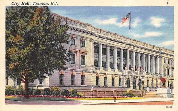City Hall Trenton, New Jersey Postcard