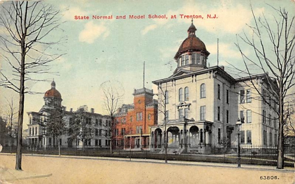 State Normal and Model School Trenton, New Jersey Postcard