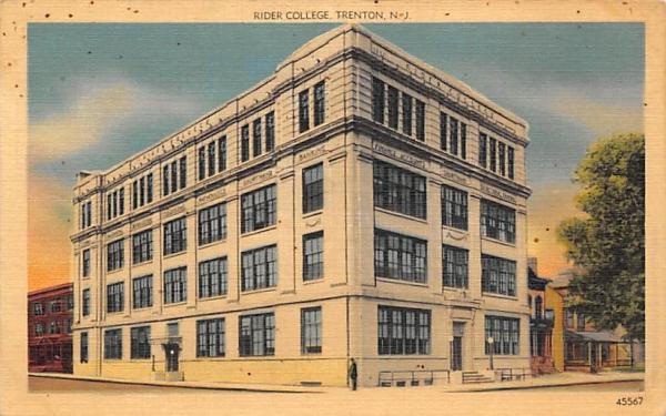 Rider College Trenton, New Jersey Postcard