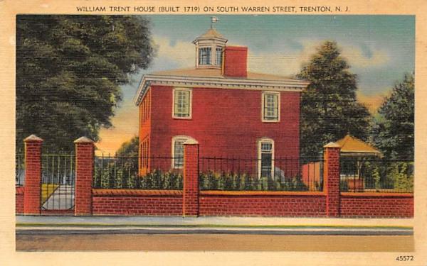 William Trent House  Trenton, New Jersey Postcard