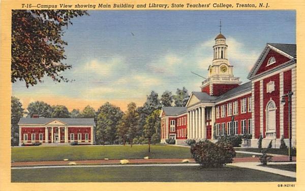 State Teachers' College Trenton, New Jersey Postcard