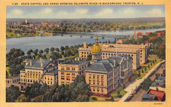 State Capitol and Annex Trenton, New Jersey Postcard