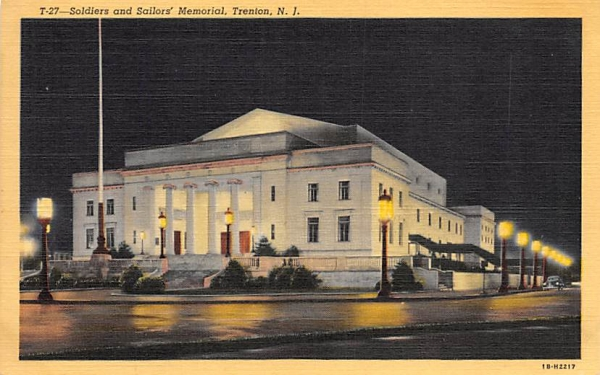 Soldiers and Sailors' Memorial Trenton, New Jersey Postcard