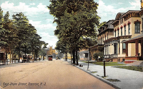 East State Street Trenton, New Jersey Postcard