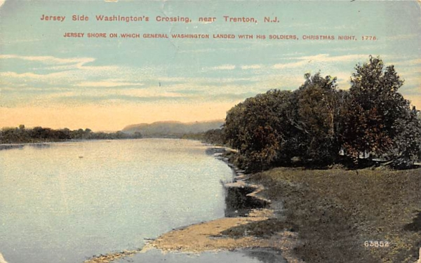 Jersey Side Washington's Crossing Trenton, New Jersey Postcard