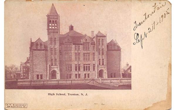 High School Trenton, New Jersey Postcard