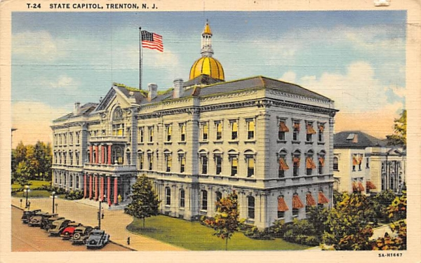 State Capitorl Trenton, New Jersey Postcard