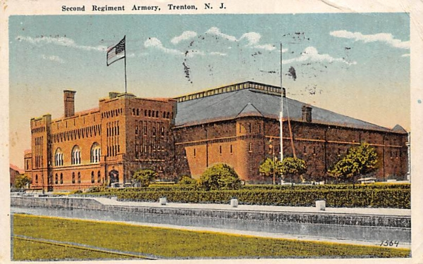 Second Regiment Armory Trenton, New Jersey Postcard
