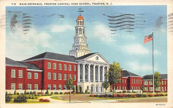 Trenton Central High School New Jersey Postcard