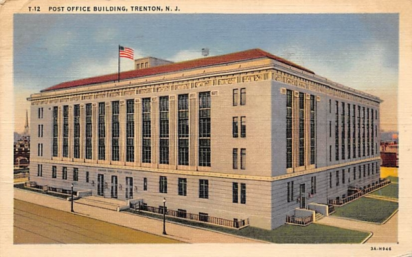 Post Office Building Trenton, New Jersey Postcard