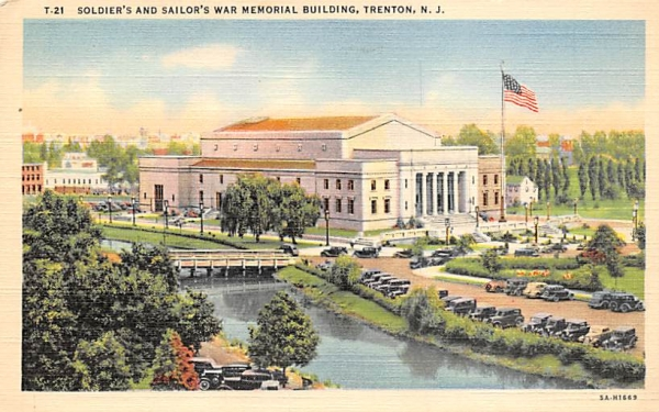 Soldier's and Sailor's War Memorial Building Trenton, New Jersey Postcard