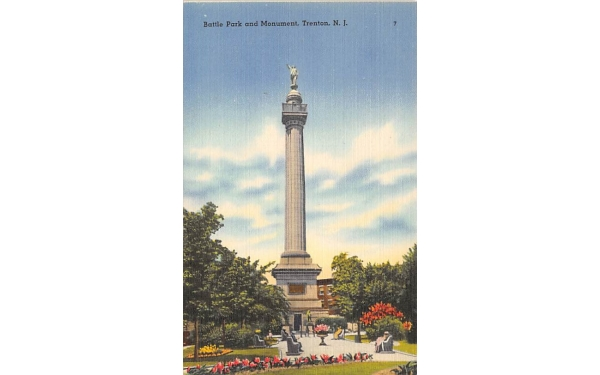 Battle Park and Mounument Trenton, New Jersey Postcard