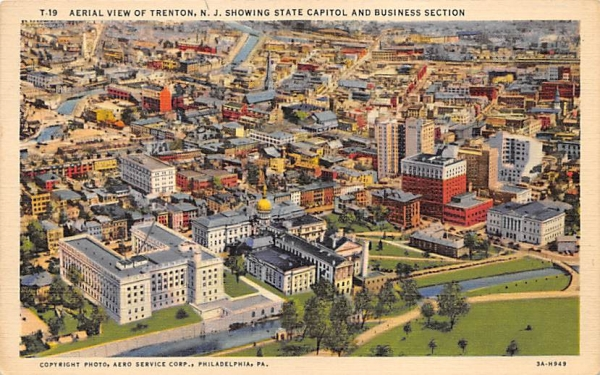 Trenton, N. J. USA, State Capitol New Jersey Postcard