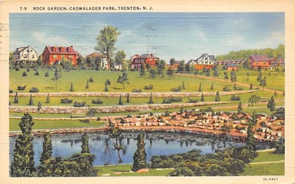 Rock Garden, Cadwalader Park Trenton, New Jersey Postcard