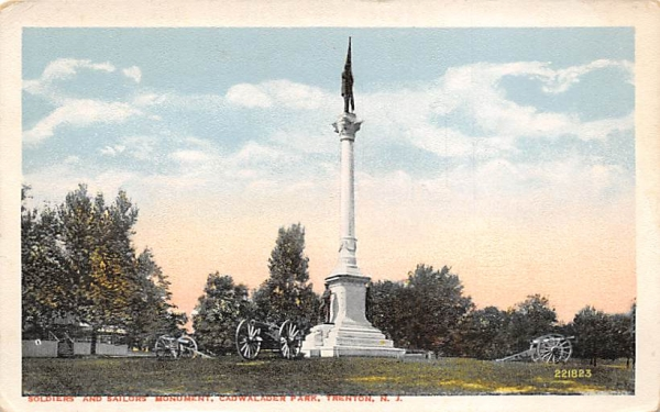 Soldiers and Sailors Monument, Cadwalader Park Trenton, New Jersey Postcard