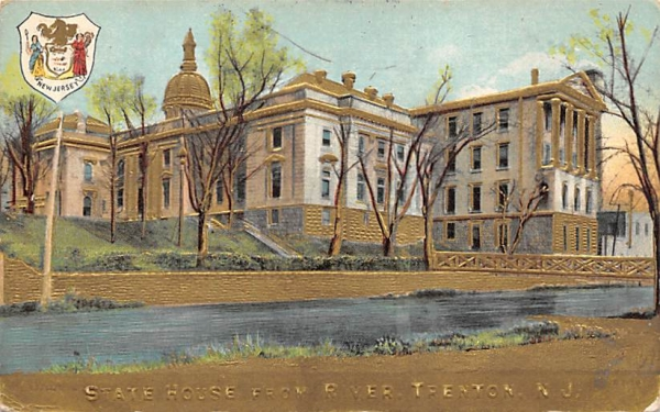 State House from River Trenton, New Jersey Postcard