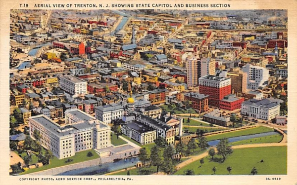 Trenton, N. J., USA, showing State Capitol New Jersey Postcard