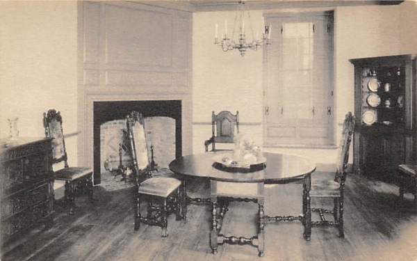 William Trent House, Dining Room Trenton, New Jersey Postcard