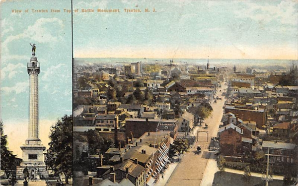 View of Trenton from Top of Battle Monument New Jersey Postcard