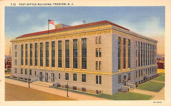 Post Office Building Trenton, New Jersey Postcard