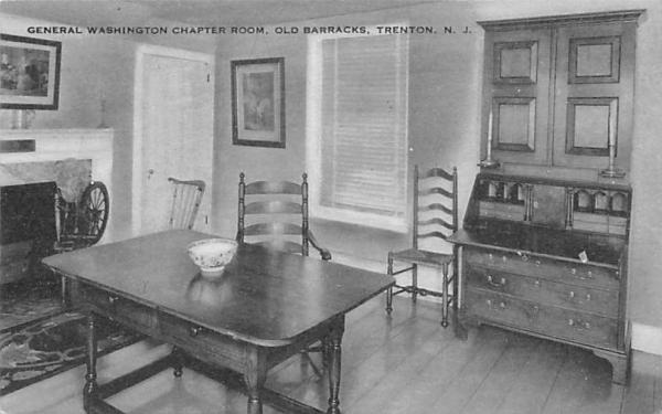 General Washington Chapter Room, Old Barracks Trenton, New Jersey Postcard