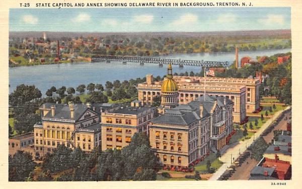 State Capitol, Annex , Delaware River Trenton, New Jersey Postcard