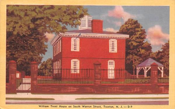 William Trent House on South Warren Street Trenton, New Jersey Postcard