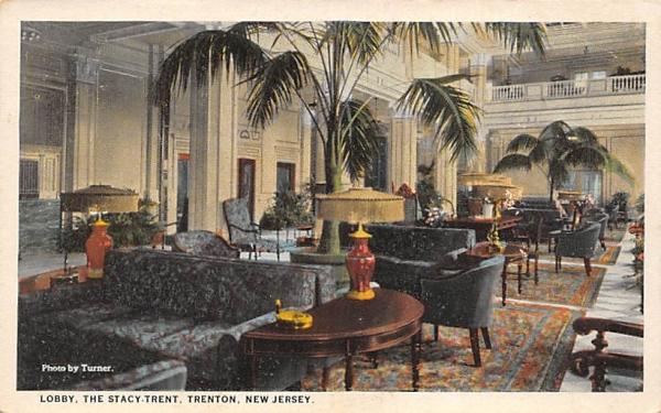 Lobby, The Stacy-Trent Trenton, New Jersey Postcard