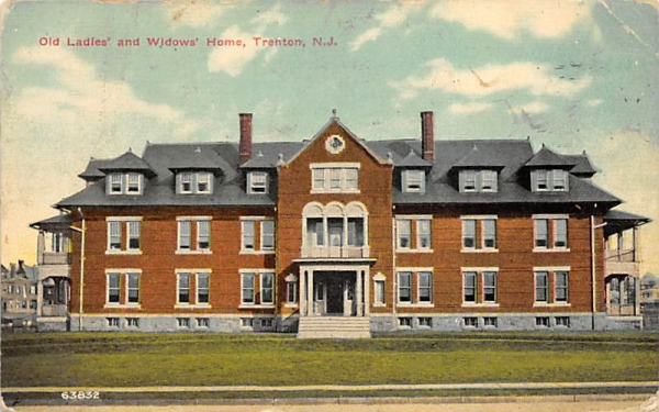 Old Ladies' and Widows' Home Trenton, New Jersey Postcard