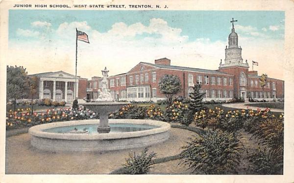 Junior High School, West State Street Trenton, New Jersey Postcard