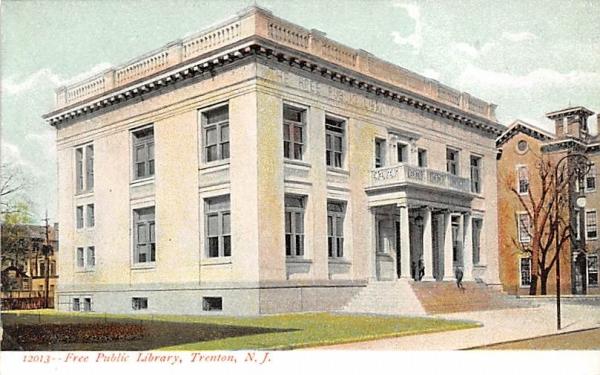 Free Public Library Trenton, New Jersey Postcard
