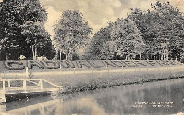 Cadwalader Park Trenton, New Jersey Postcard