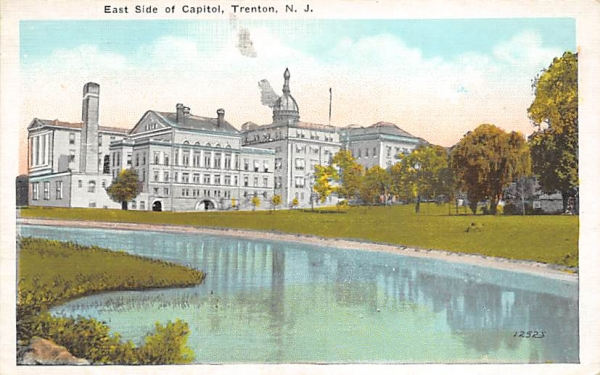 East Side of Capitol Trenton, New Jersey Postcard