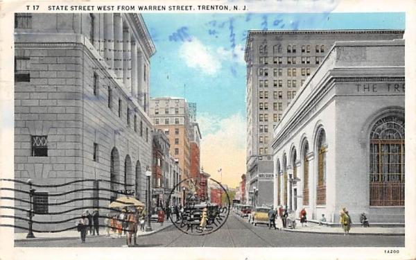 State Street West from Warren Street Trenton, New Jersey Postcard