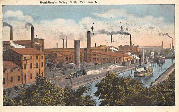 Roebling's Wire Mills Trenton, New Jersey Postcard