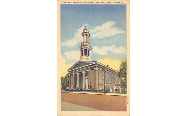 First Presbyterian Church Trenton, New Jersey Postcard