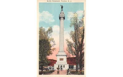Battle Mounument Trenton, New Jersey Postcard