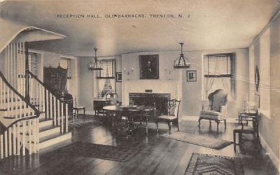 Reception Hall, Old Barracks Trenton, New Jersey Postcard