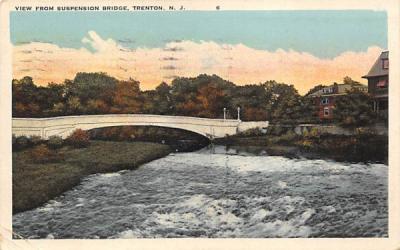 View from Suspension Bridge Trenton, New Jersey Postcard